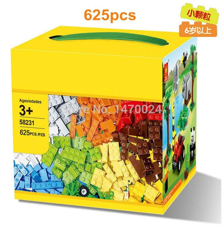625Pcs  Wange 58231 DIY Basic Creative Bricks Building Block  Toy Joyer Classic Creative Building Box Set Blocks&Bricks Toy Gift